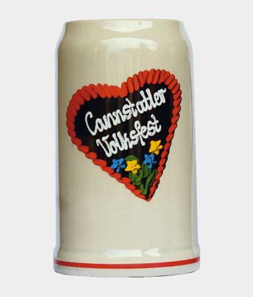 Bierkrug Volksfestherz 1 Liter