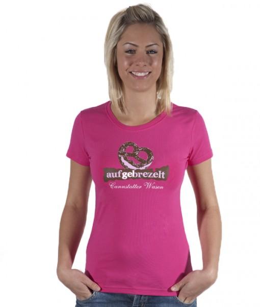 Damen Shirt Aufgebrezelt