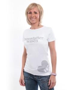 Damen Shirt Cannstatter Wasen weiß