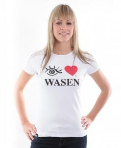 Damen Shirt Eye love Wasen