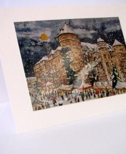 Postkarte Stuttgart Altes Schloss Weihnachtsmarkt