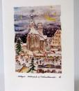 Postkarte Stuttgart Stiftskirche Schillerplatz mit Weihnachtsmarkt