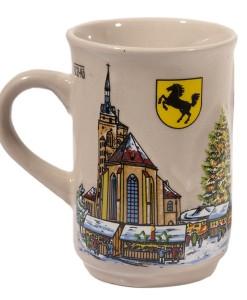 Weihnachtsmarktbecher beige I
