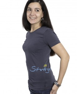 Damen-T-Shirt anthrazit