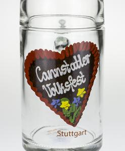 Kleiner Glaskrug (0,4l) mit Cannstatter Volksfestherz
