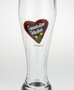 Weizenbierglas Cannstatter Volksfestherz